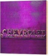 Chevrolet Pink Wood Print