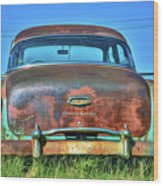 Chevrolet Power Glide 1954 Wood Print