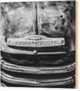 Chevrolet Truck Grille Emblem -0839bw1 Wood Print