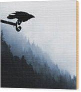 Chevron Raven Wood Print