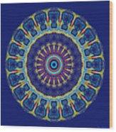 Chevrons II Mandala Wood Print