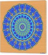Chevrons Mandala Wood Print