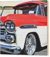 Chevy Apache Custom Hot Rod Truck Wood Print