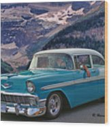 Chevy At Lake Louise Wood Print