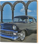 Chevy Belair In Mexico Wood Print