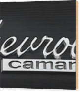 Chevy Camaro Emblem Wood Print