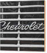 Chevy Grill Wood Print