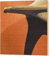 Chevy Hood Ornament Wood Print