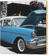 Chevy Love 1956 Wood Print