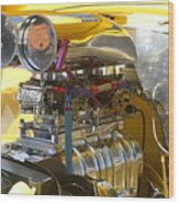 Chevy Motor Wood Print