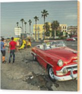 Chevy On The Prom  Wood Print