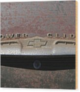 Chevy Power Glide Trunk Emblem Wood Print