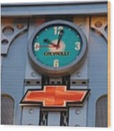 Chevy Times Square Clock Wood Print