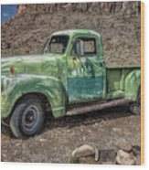 Chevy Truck Route 66 Wood Print