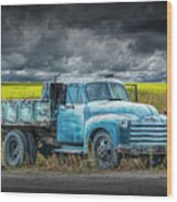 Chevy Truck Stranded By The Side Of The Road Wood Print