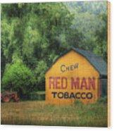 Chew Red Man Wood Print
