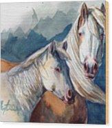 Cheyenne And Tripod Wood Print