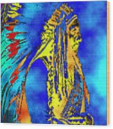 Cheyenne Chief Wood Print