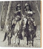 Cheyenne Scouts Patrolling The Big Timber Of The North Canadian, Wood Print