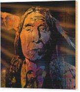 Cheyenne Sunset Wood Print
