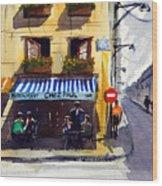 Chez Paul Wood Print