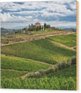 Chianti Landscape Wood Print