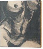 Chiaroscuro Torso - Female Nude Wood Print