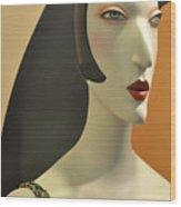 Chic Glamour Girl Wood Print
