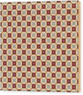 Chic Seamless Tile Pattern Wood Print