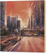 Chicaco Street 3 Wood Print