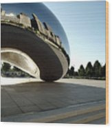 Chicago - Cloud Gate Reflection Wood Print