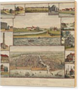 Chicago 1779-1857 Wood Print