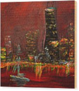 Chicago Acid Trip Wood Print