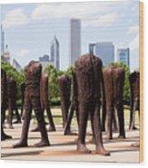 Chicago Agora Headless Statues Wood Print