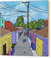 Chicago Alley Wood Print