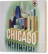 Chicago American Airlines 1950 Wood Print