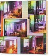 Chicago Art Institute Miniature Rooms Prismatic Collage Wood Print