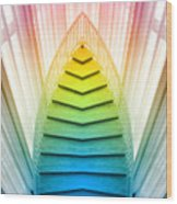 Chicago Art Institute Staircase Pa Prism Mirror Image Vertical 02 Wood Print