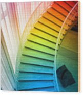 Chicago Art Institute Staircase Pa Prismatic Vertical 02 Wood Print