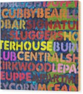 Chicago Bars Wood Print