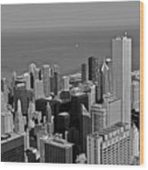 Chicago Birdview Wood Print