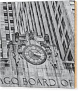 Chicago Board Of Trade Bw Wood Print