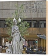 Chicago Board Of Trade Signage Wood Print