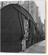 Chicago Bridge  Wood Print