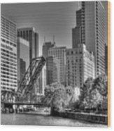 Chicago Bridges Wood Print