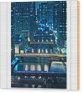 Chicago Bridges Poster Wood Print