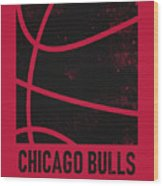 Chicago Bulls City Poster Art 2 Wood Print