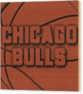 Chicago Bulls Leather Art Wood Print