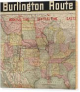 Chicago, Burlington Route System Map, 1892. Wood Print