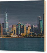 Chicago Cityscape Wood Print